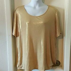 Denim 24/7 gold shimmer blouse
